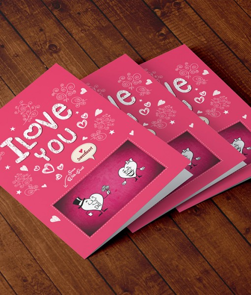 Augmented Reality Love Greeting Card LO002-3