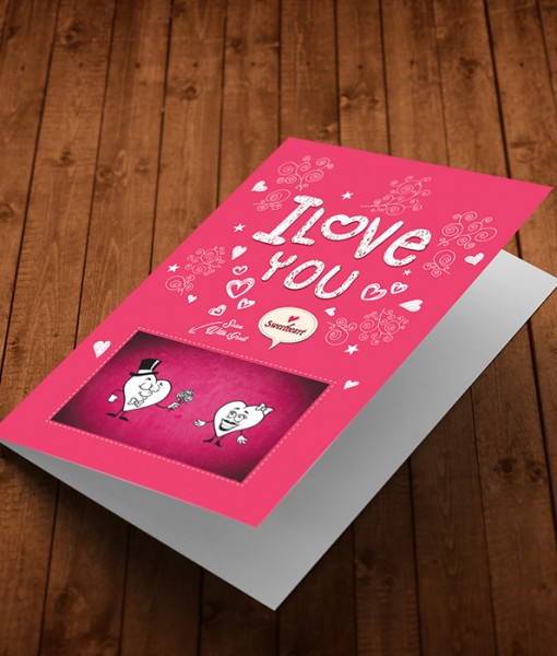 Augmented Reality Love Greeting Card LO003-4