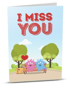 Miss You Greeting Card MY001-1