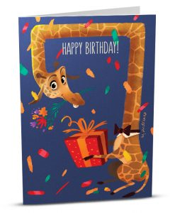 Birthday Greeting Card MA001-1