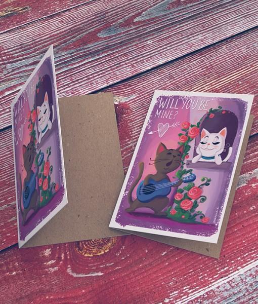 Love Greeting Card MK001-3