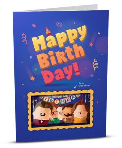 Birthday Greeting Card HB002-1