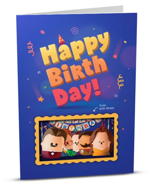 Birthday Greeting Card HB002-1