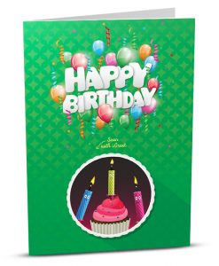 Augmented Reality Birthday Greeting Card HB013-1