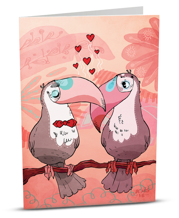 Love Greeting Card D002-1