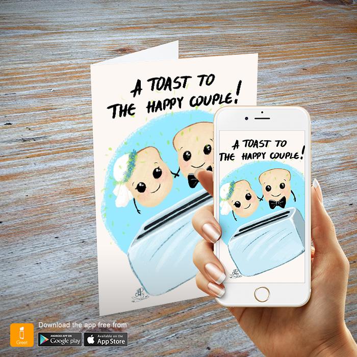 Wedding toast igreet augmented reality wedding greeting card yp001 1 add to wishlist loading m4hsunfo